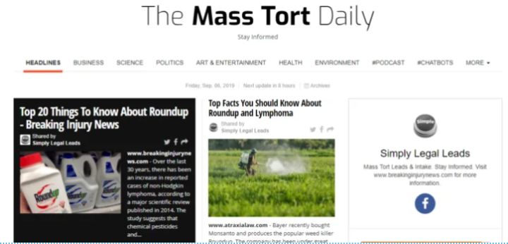 Check Out The New Mass Torts Daily Newsletter - Breaking